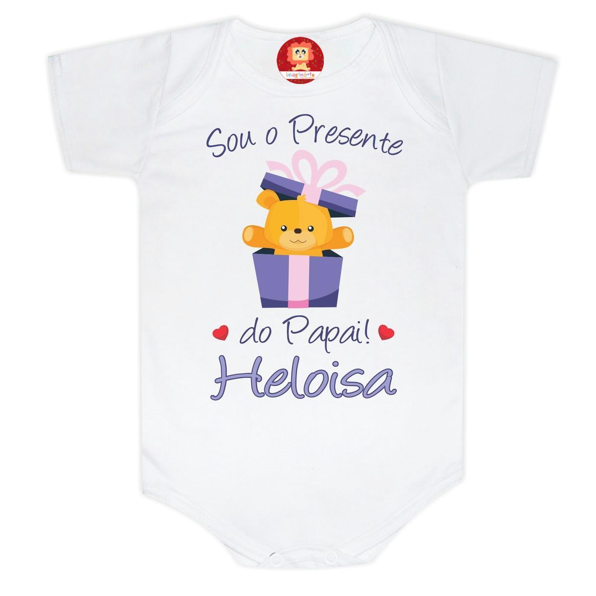 Body de Bebê ou Camiseta Presente do Papai Ursinho