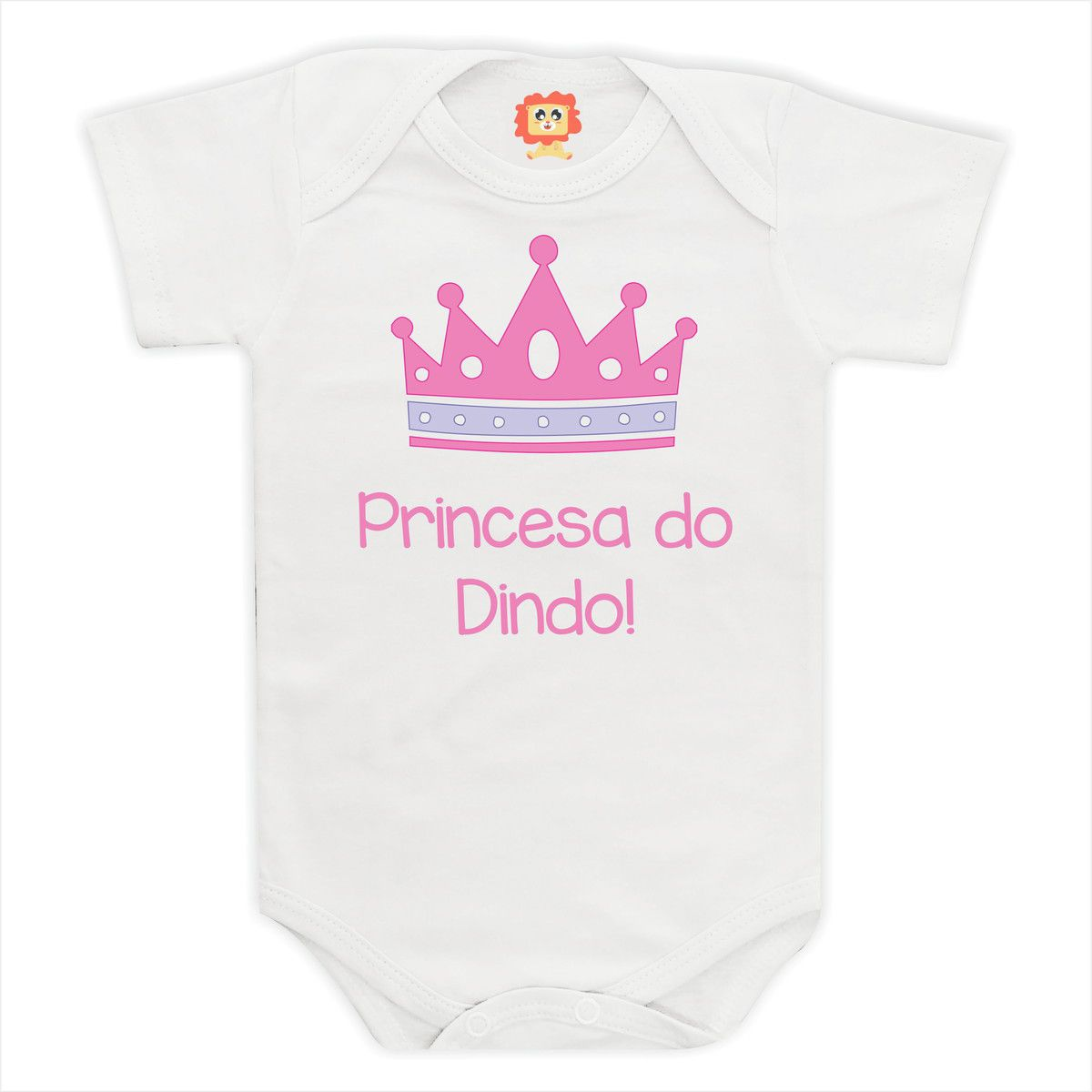 Body de Bebê ou Camiseta Princesa do Dindo!