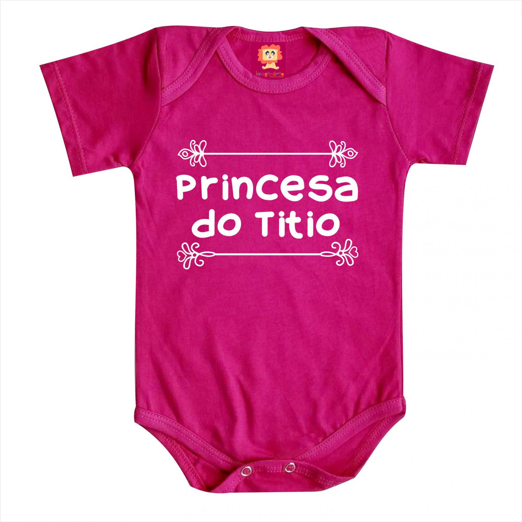 Body de Bebê ou Camiseta Princesa do Titio