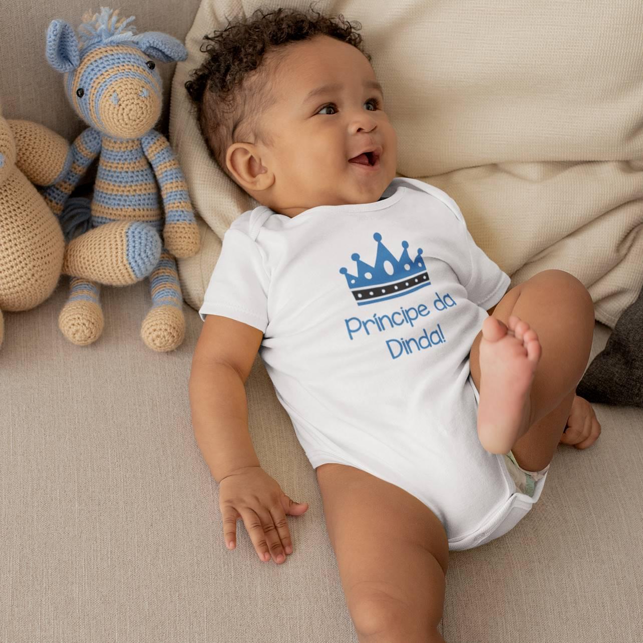 Body de Bebê ou Camiseta Príncipe da Dinda