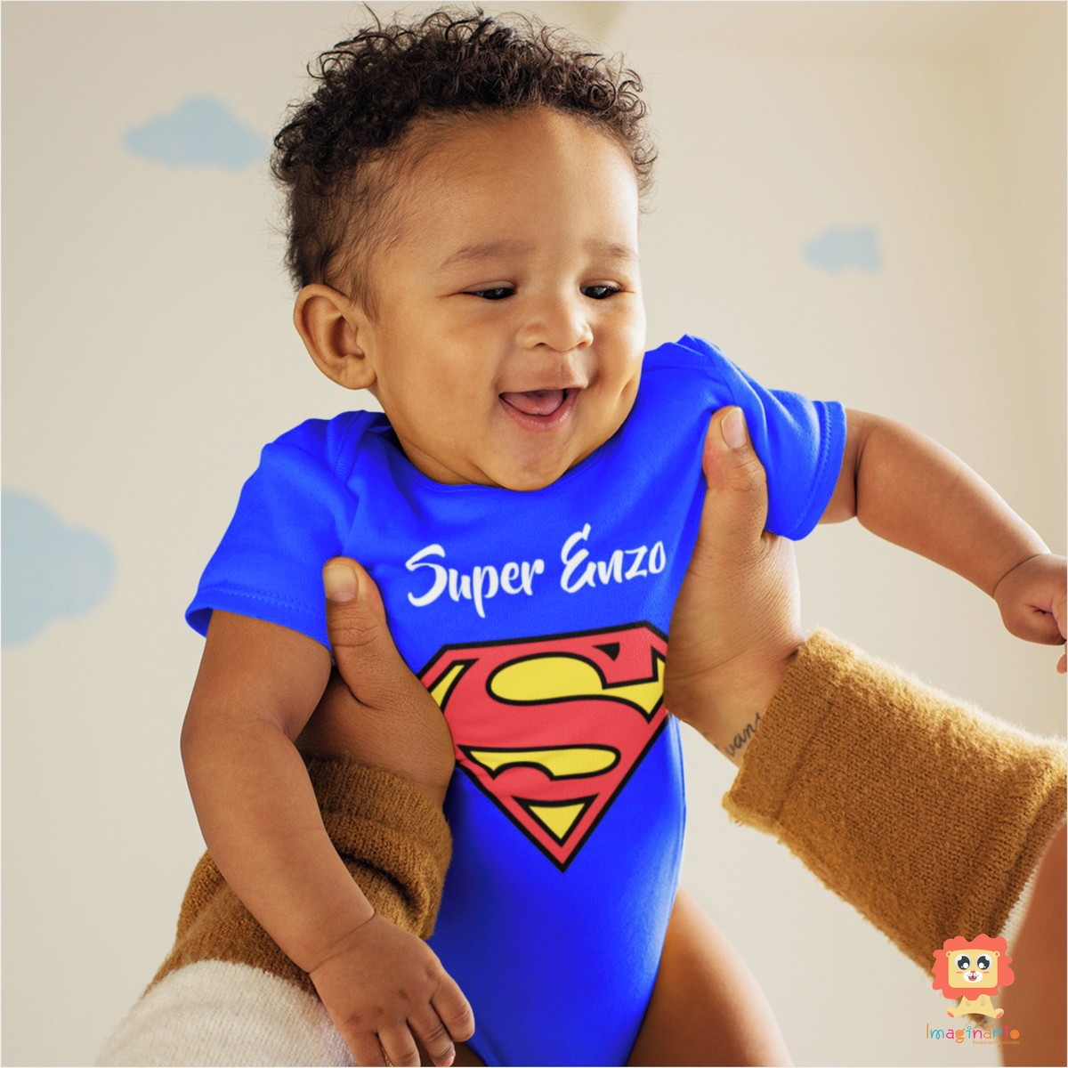 Body de Bebê ou Camiseta Super Homem com Nome Personalizado