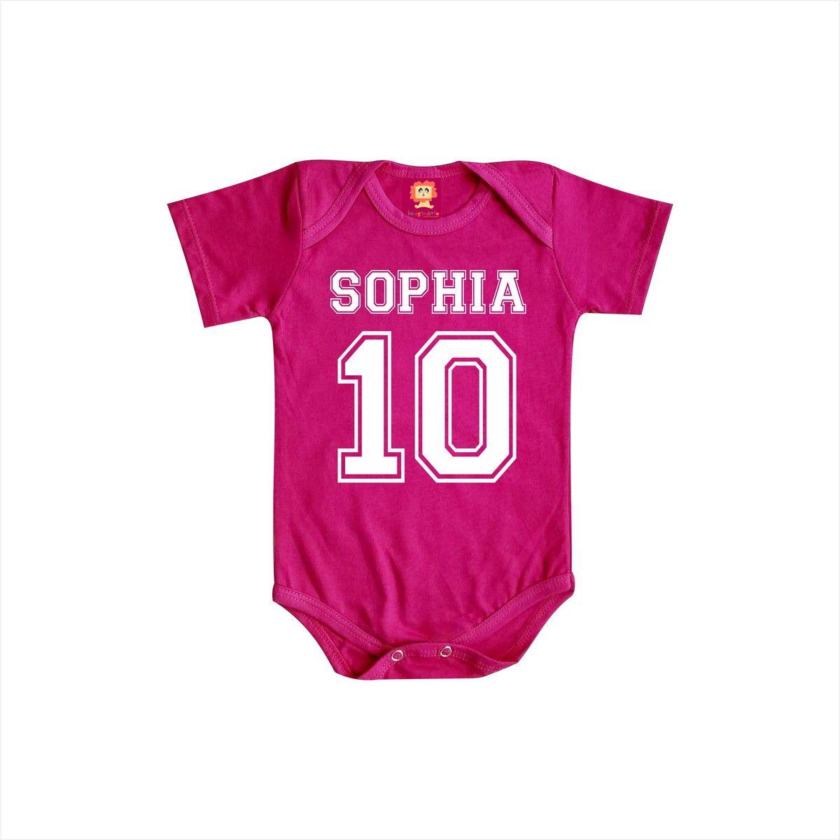 Body de Bebê Personalizado Com Nome - College