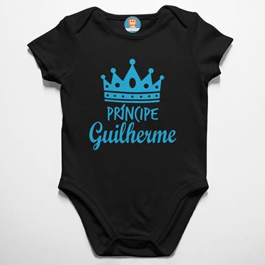 Body de Bebê Príncipe Personalizado Com Nome
