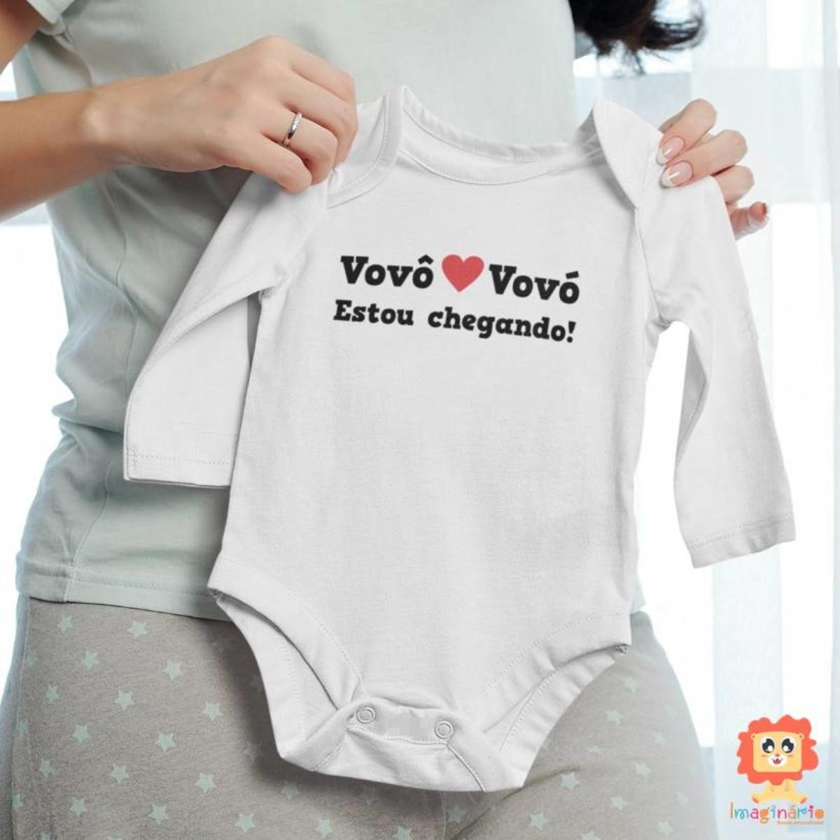 Body de Bebê Vovô e Vovó Estou Chegando