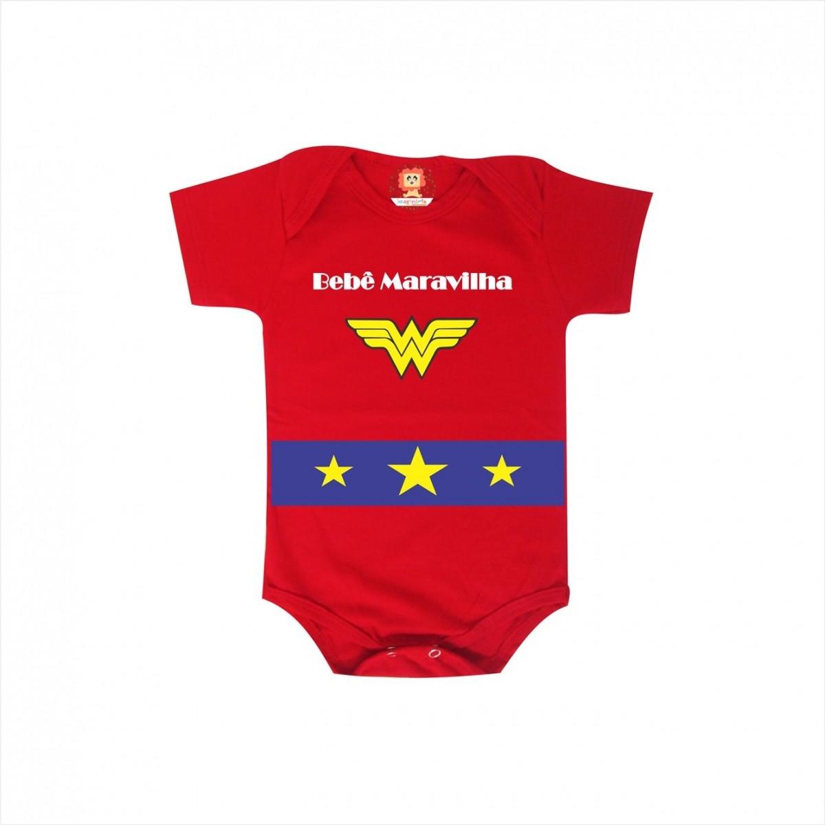 Body e Camiseta Bebê Maravilha