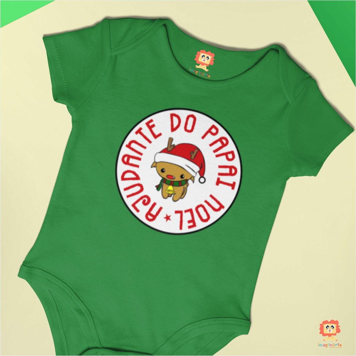 Body ou Camiseta Ajudante do Papai Noel Rena