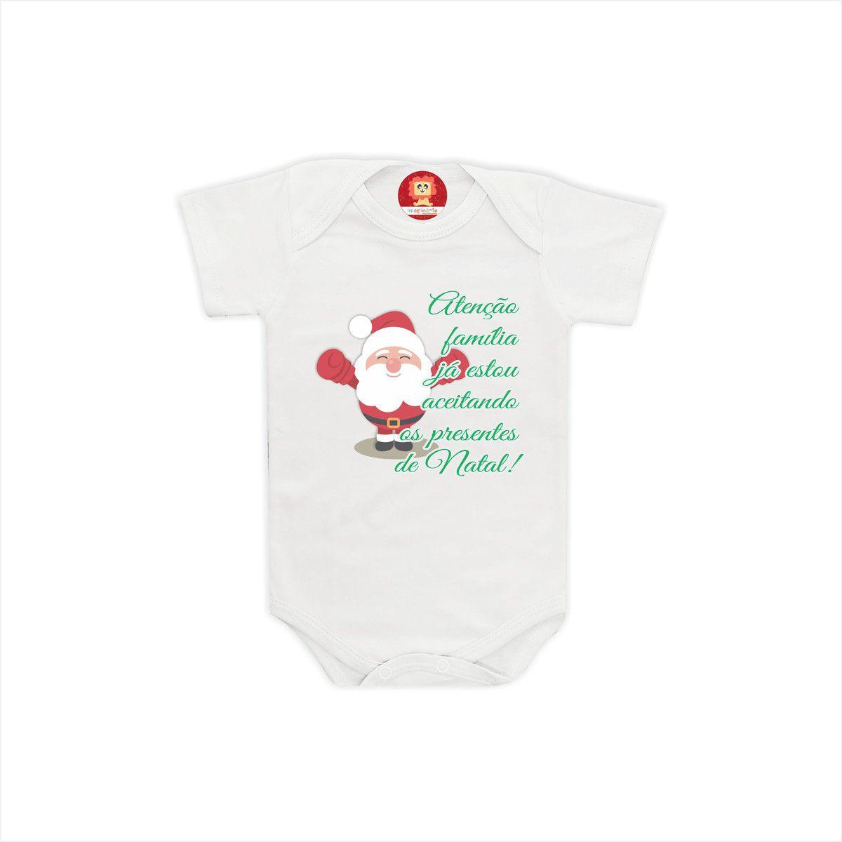 Body ou Camiseta Atenção Família