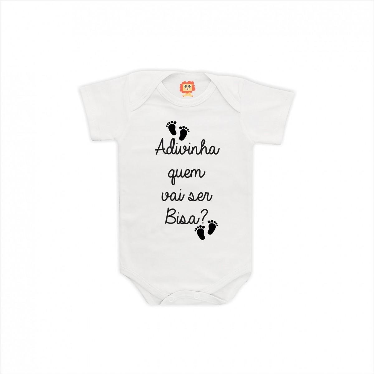 Body de Bebê Adivinha Quem Vai Ser Bisa