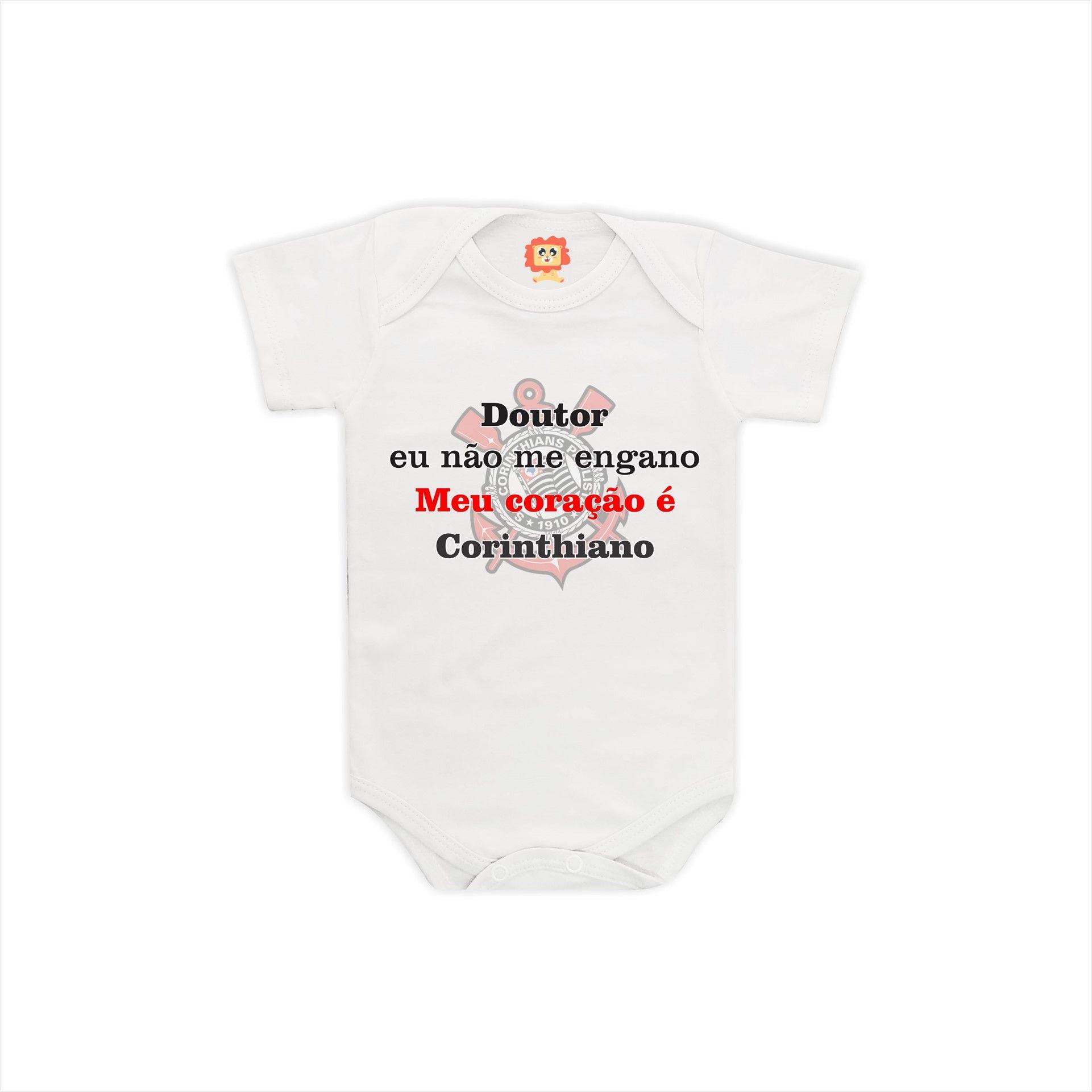 Body ou Camiseta Coração Corinthiano