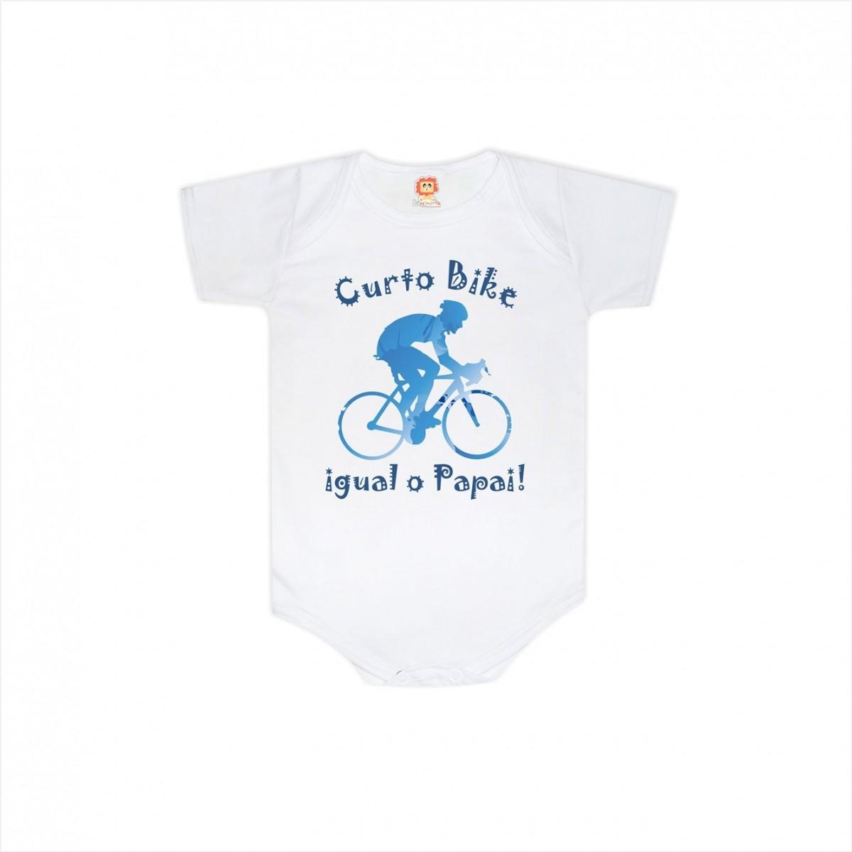 Body ou Camiseta Curto Bike Igual o Papai