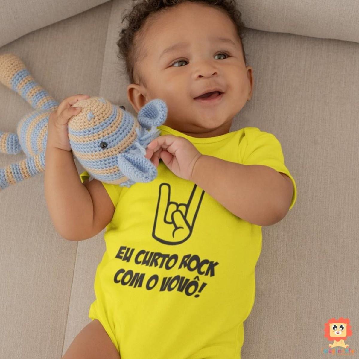 Body ou Camiseta Curto Rock com o Vovô