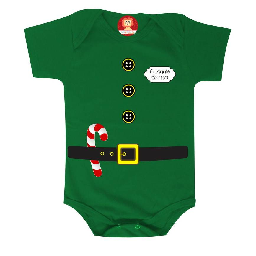 Body ou Camiseta de Natal Ajudante do Papai Noel