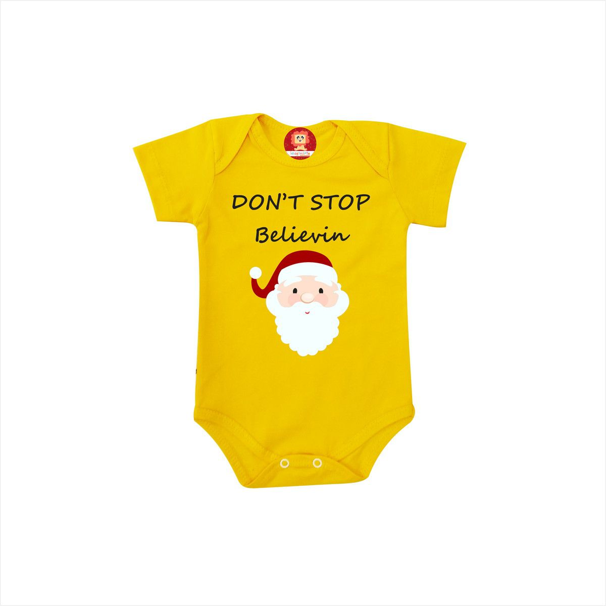 Body ou Camiseta de Natal Dont Stop Believin