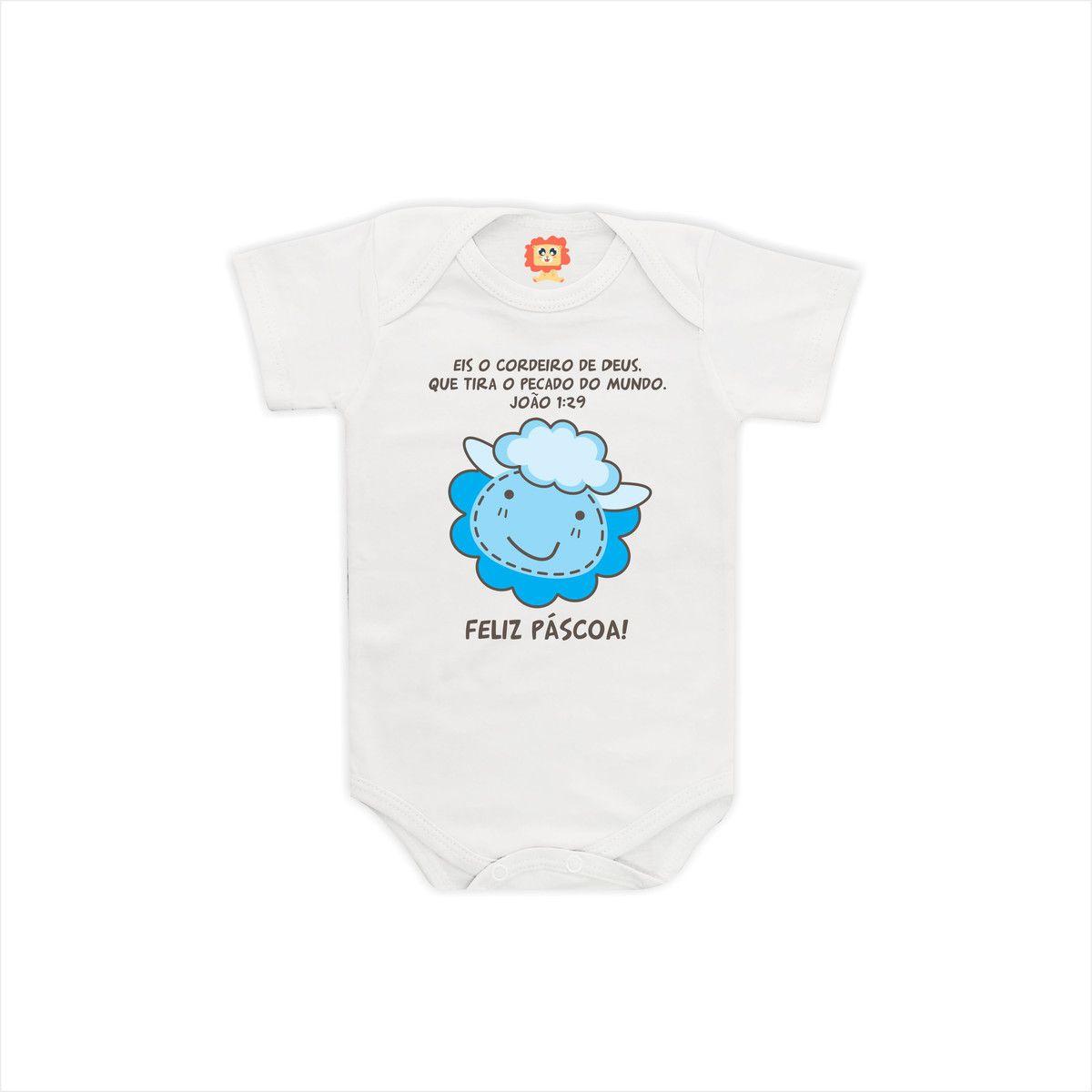 Body ou Camiseta de Páscoa Cordeiro