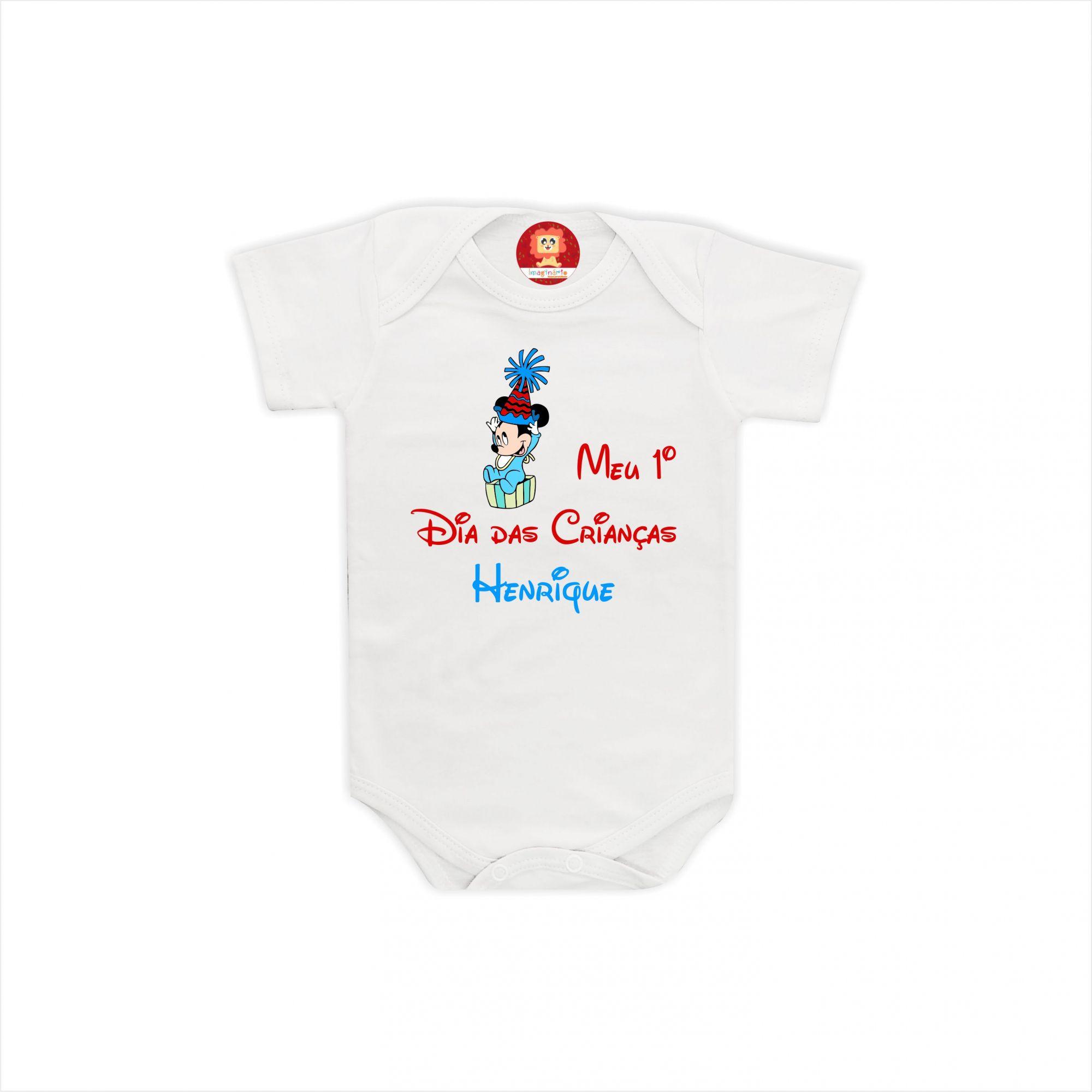 Body ou Camiseta Dia das Crianças Mickey Baby