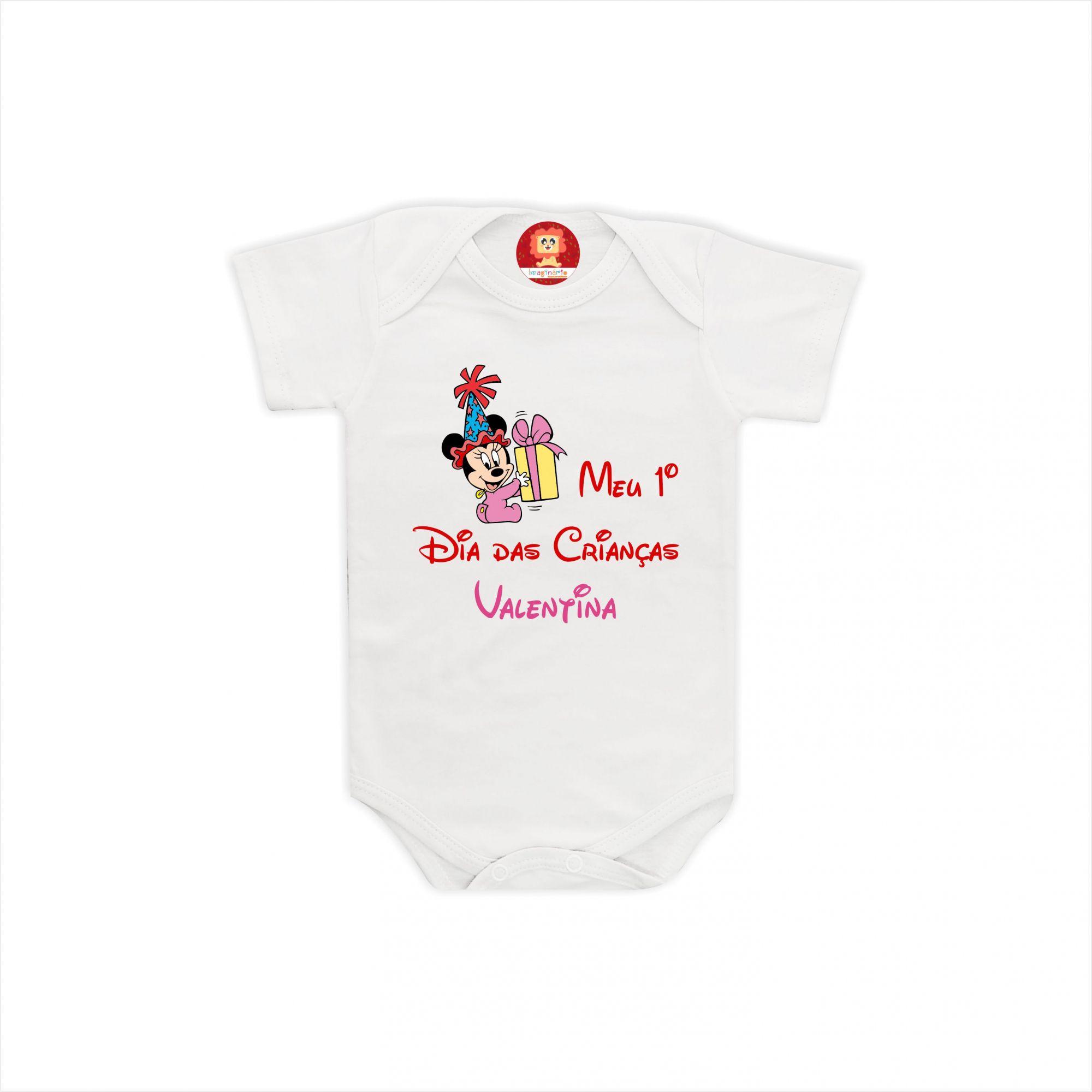 Body ou Camiseta Dia das Crianças Minnie Baby