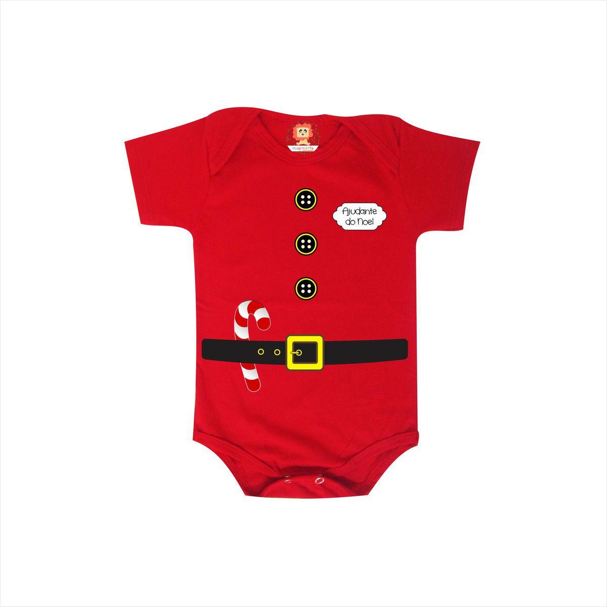 Body ou Camiseta Elfo Ajudante do Noel