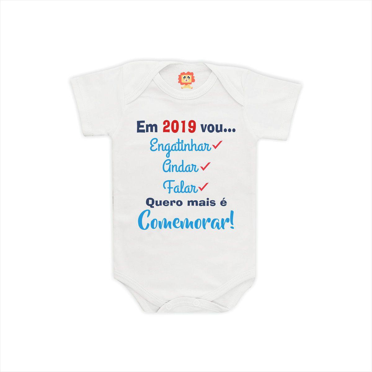 Body ou Camiseta Em 2019 Vou Engatinhar Andar Falar