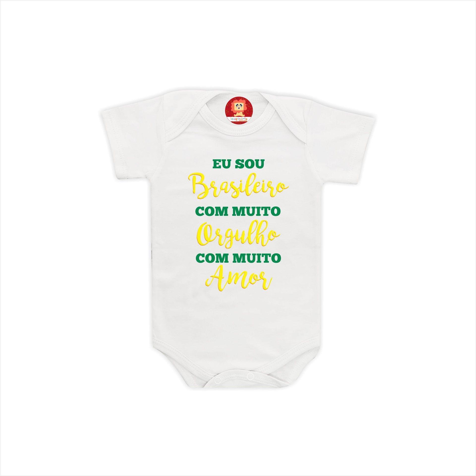 Body ou Camiseta Eu Sou Brasileiro