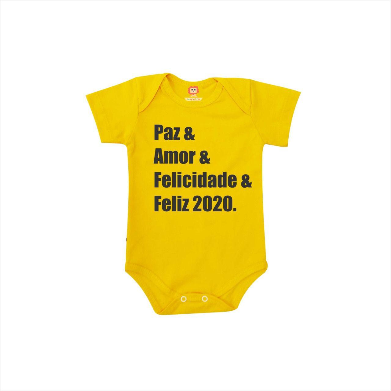 Body ou Camiseta Felicidade & Feliz 2020