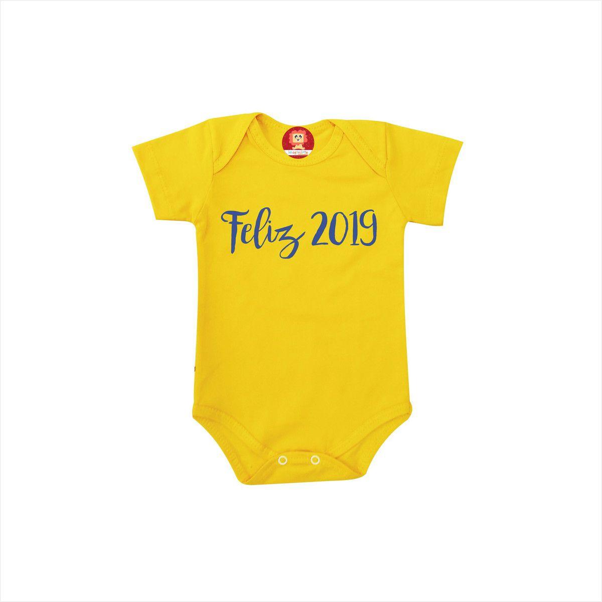 Body ou Camiseta Feliz 2019