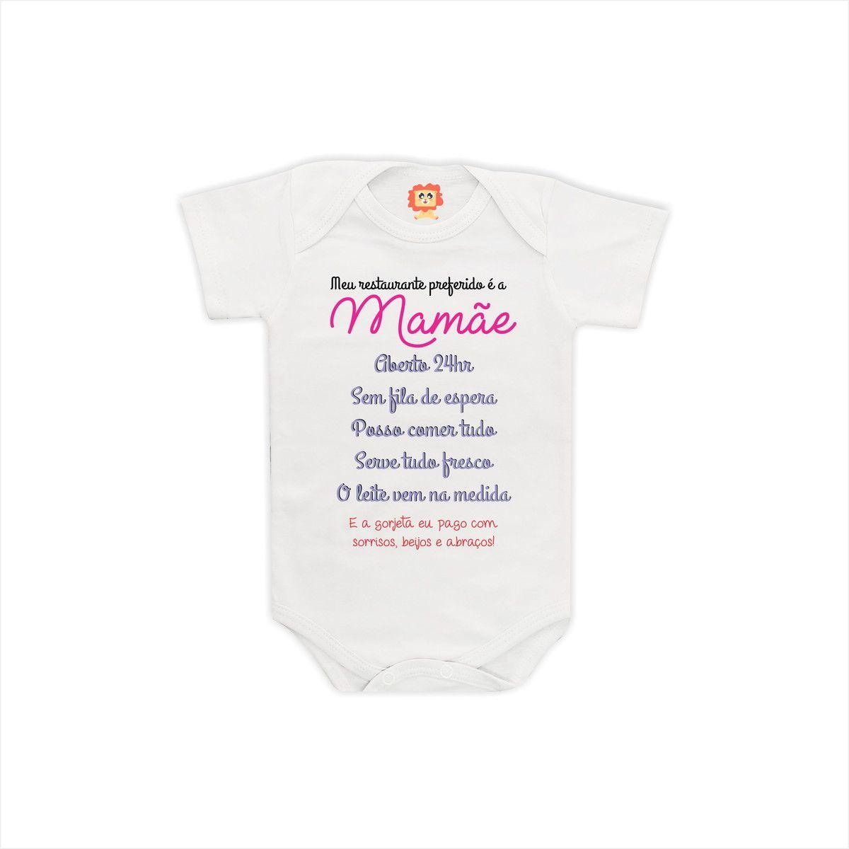 Body ou Camiseta Frases Mamãe