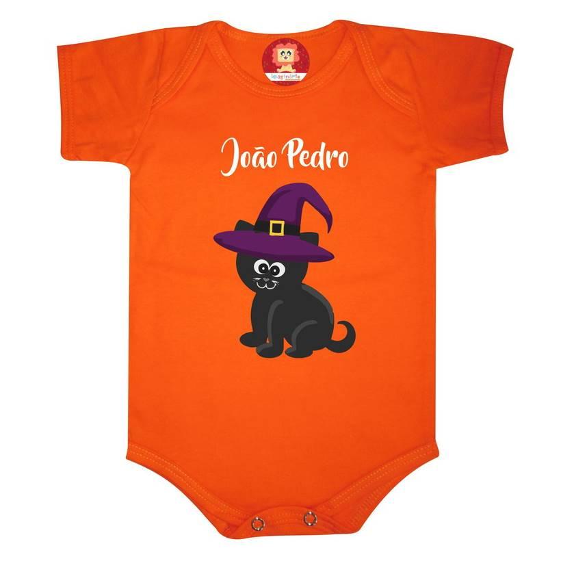 Body ou Camiseta Gatinho Preto da Sorte Halloween