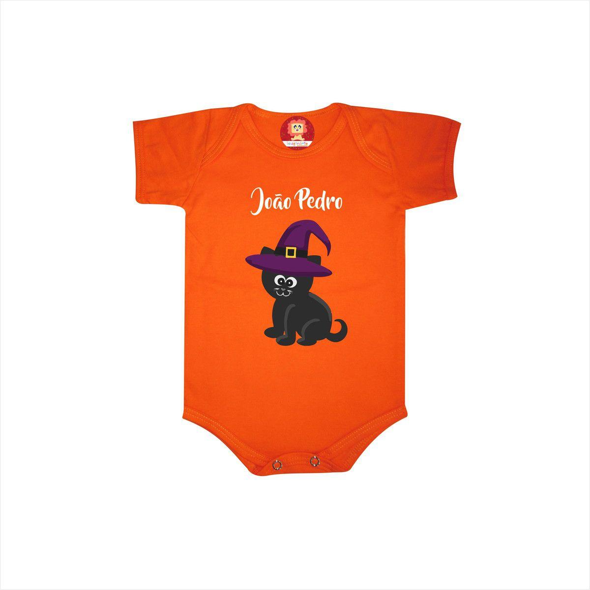 Body ou Camiseta Gatinho Preto Halloween