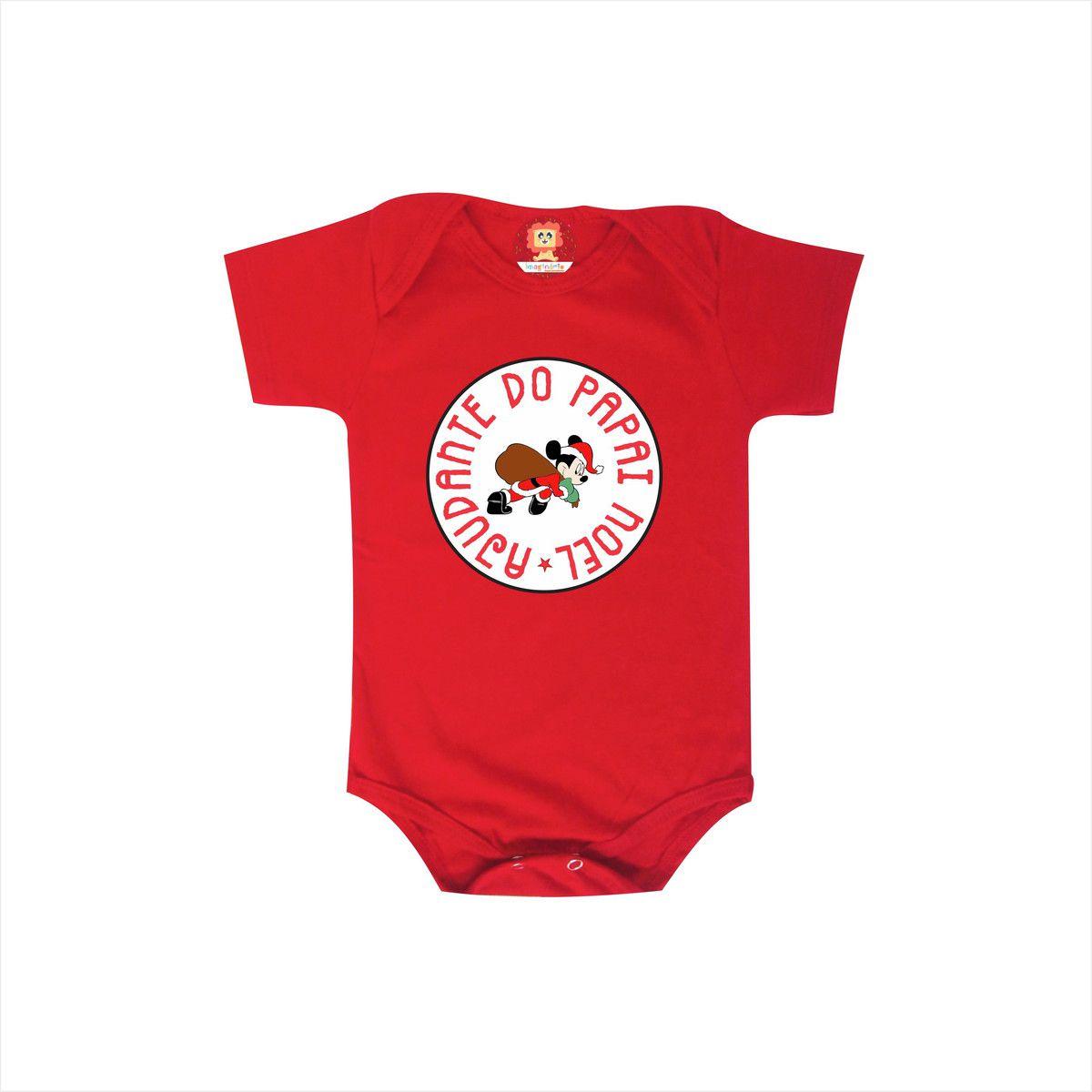 Body ou Camiseta Infantil Ajudante do Papai Noel Mickey