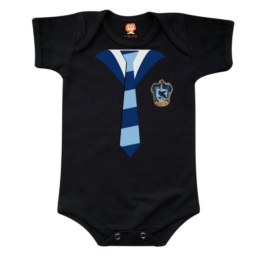 Body ou Camiseta Infantil Casas de Hogwarts Corvinal