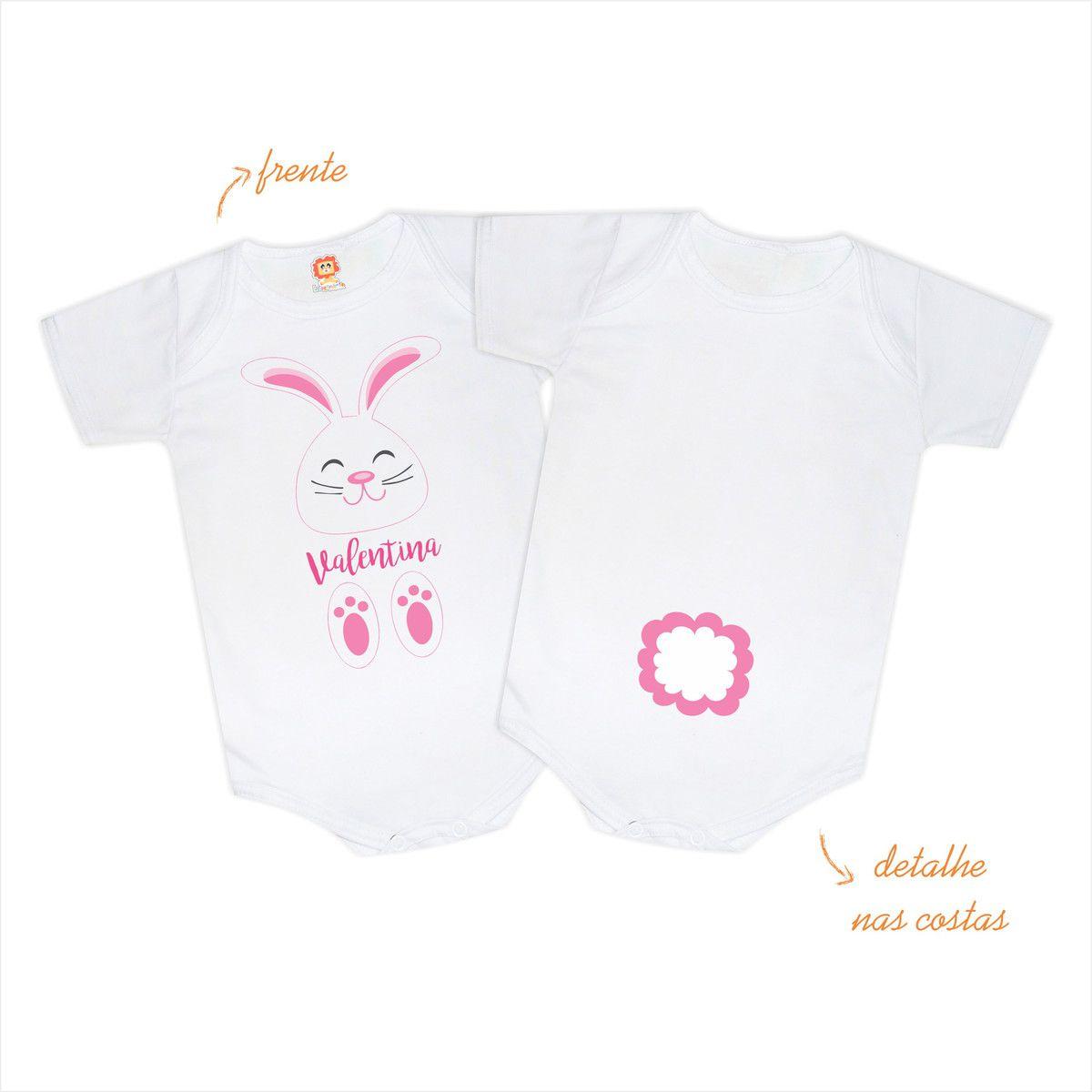 Body ou Camiseta Infantil Coelhinho da Páscoa Personalizado