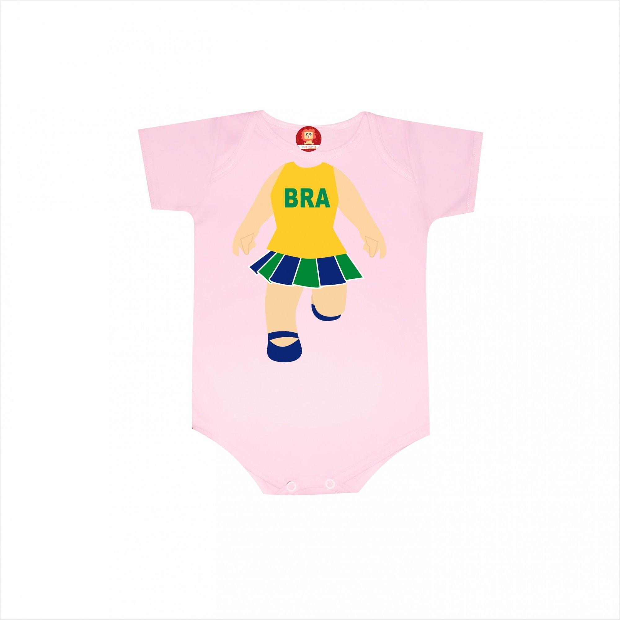 Body ou Camiseta Infantil Copa do Mundo Torcida