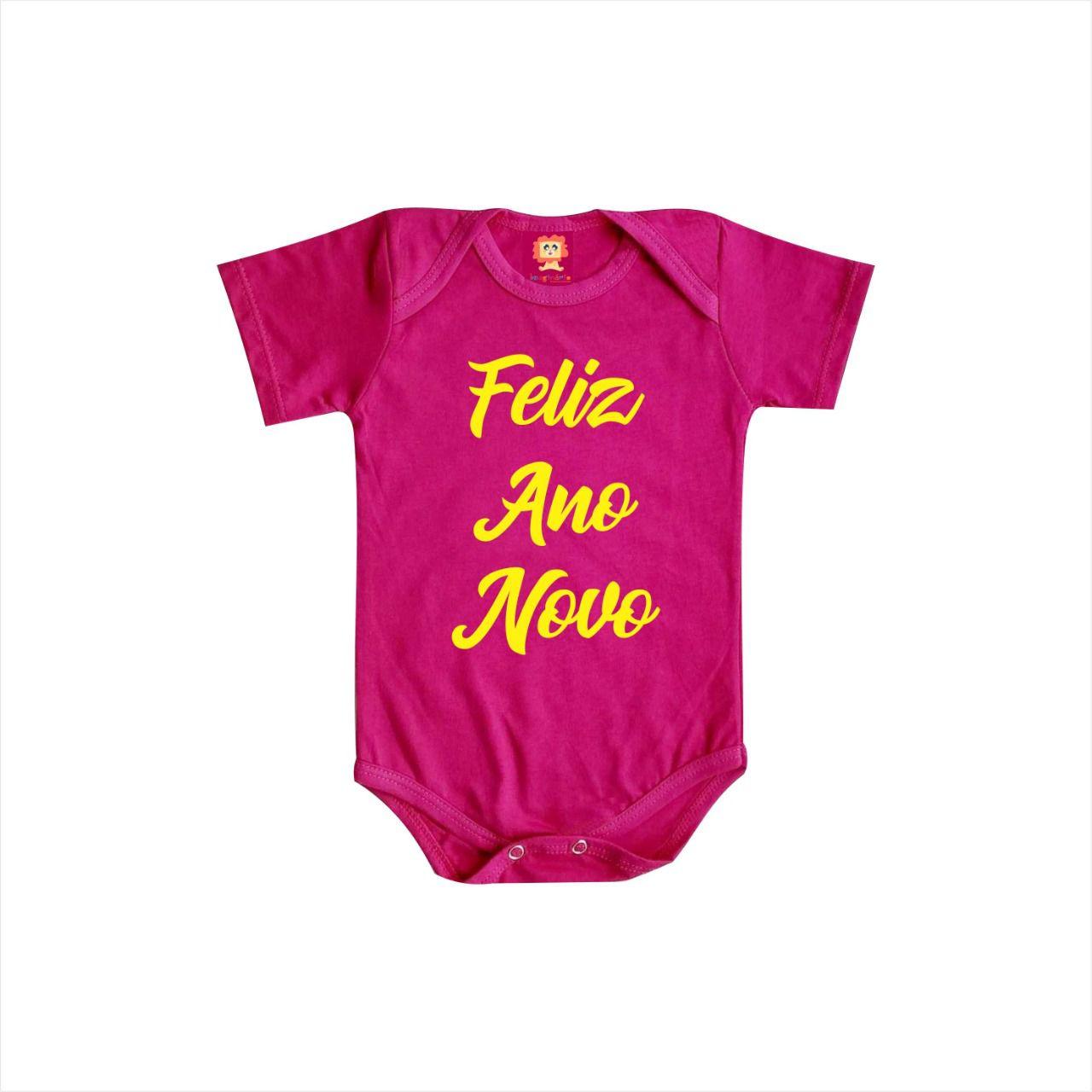 Body ou Camiseta Infantil Feliz Ano Novo