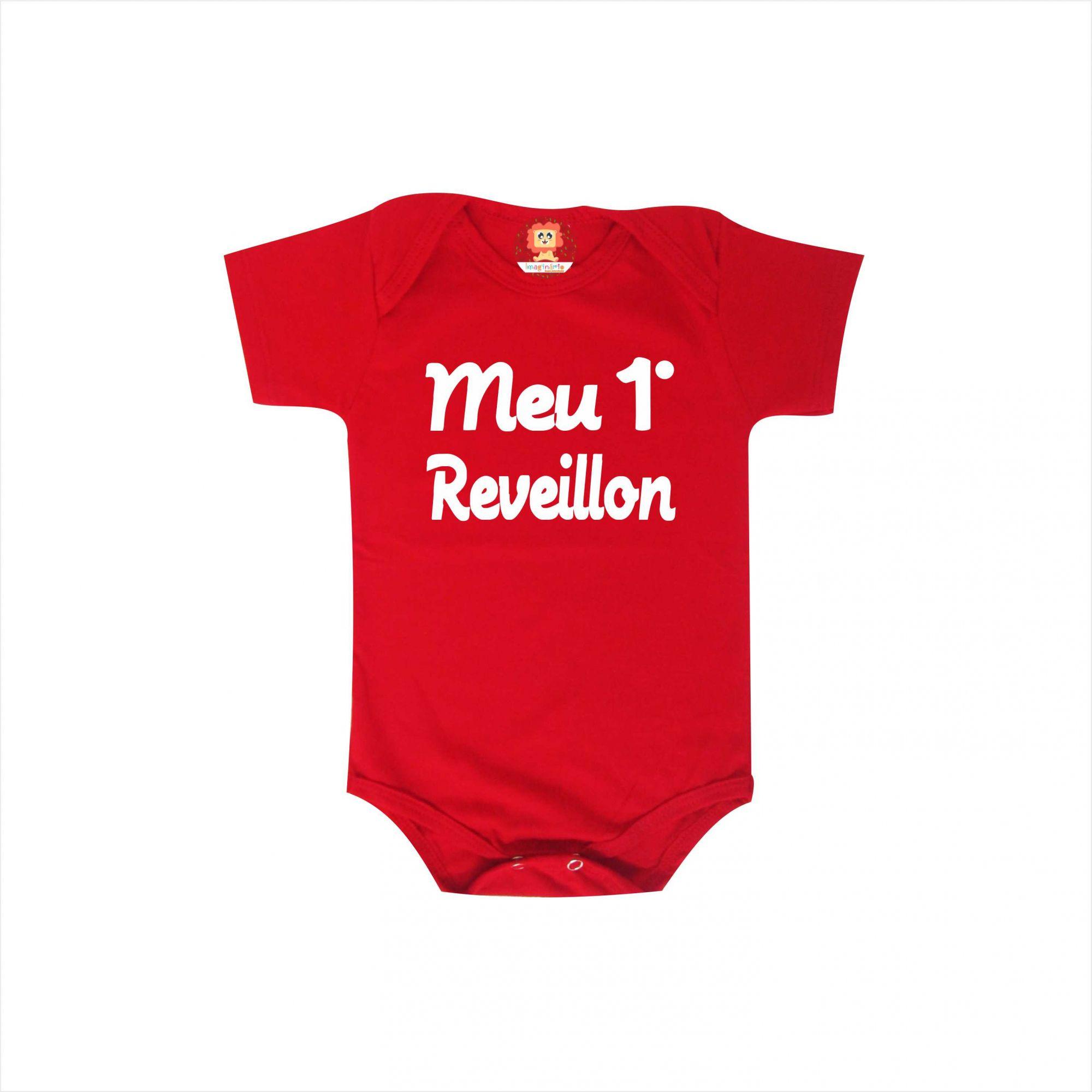Body ou Camiseta Infantil Meu Primeiro Reveillon