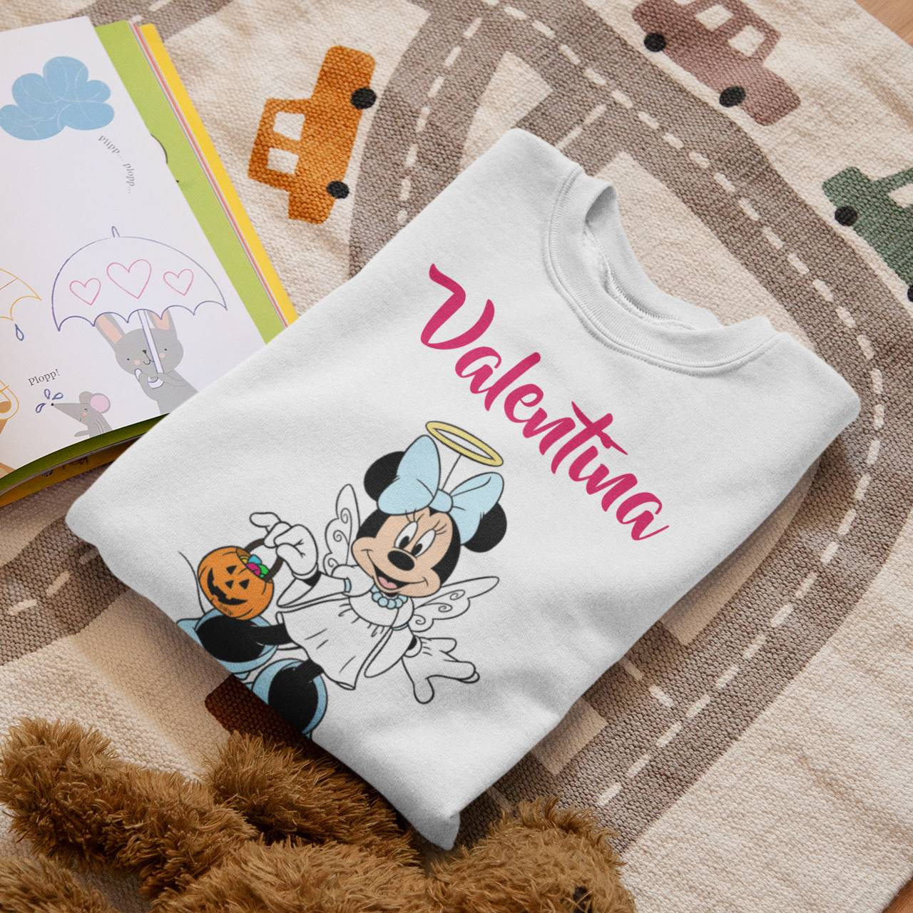 Body ou Camiseta Infantil Minnie Halloween