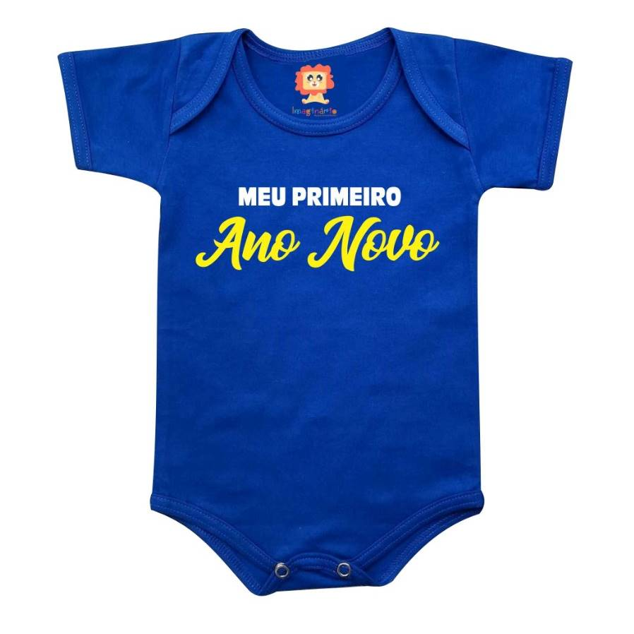 Body ou Camiseta Infantil Primeiro Ano Novo Color