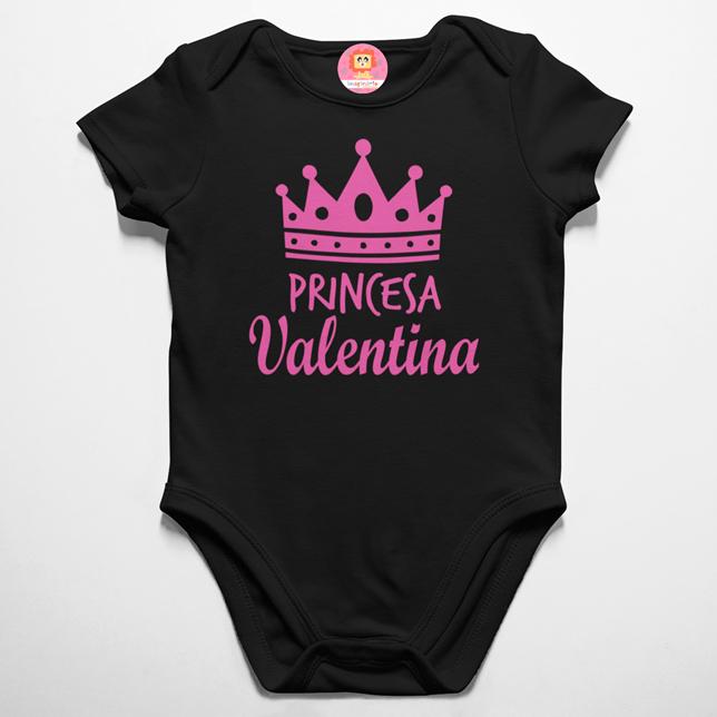 Body ou Camiseta Infantil Princesa Personalizado com Nome