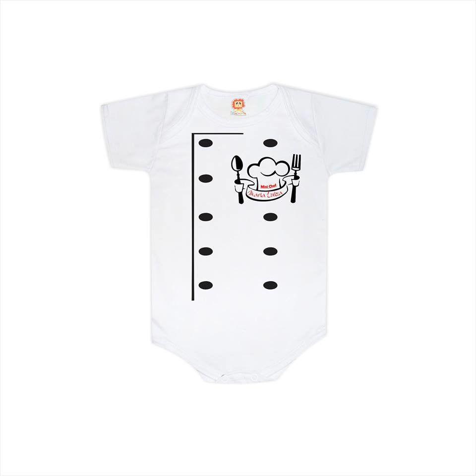 Body ou Camiseta Infantil Profissão Chefe Cozinheiro