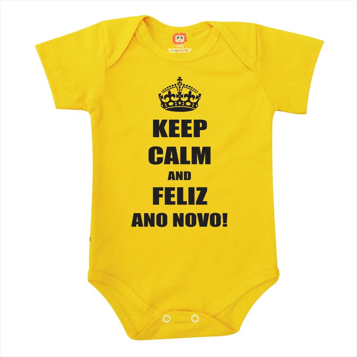 Body ou Camiseta Keep Calm e Feliz Ano Novo