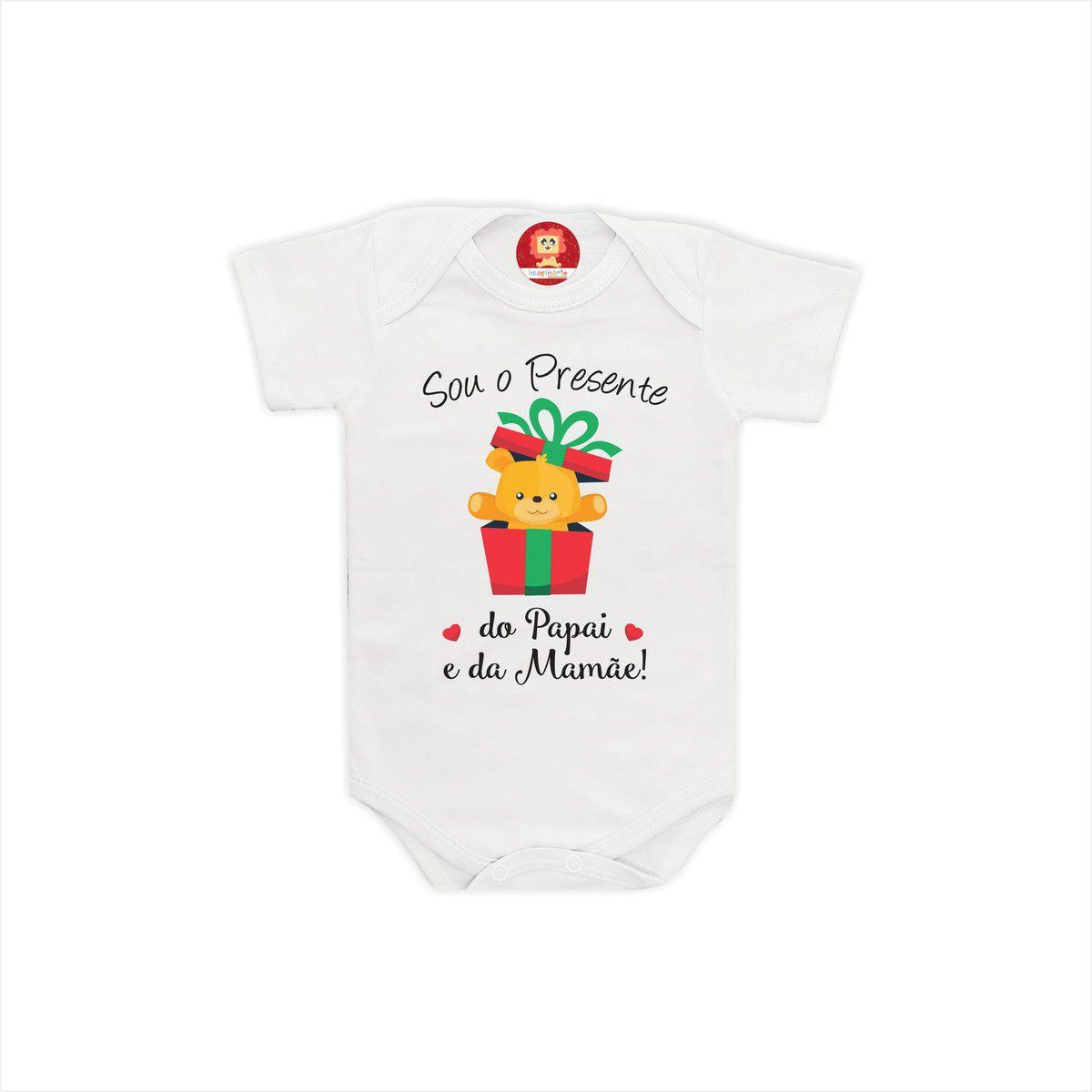 Body ou Camiseta Melhor Presente de Natal da Família
