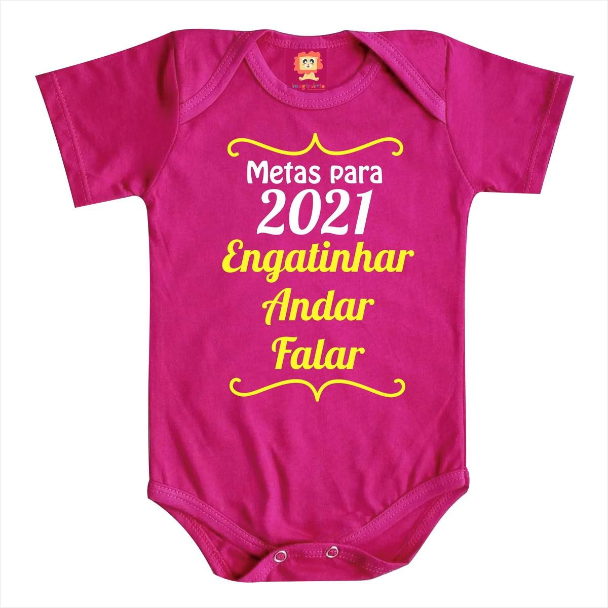 Body ou Camiseta Metas Ano Novo 2021 Colors