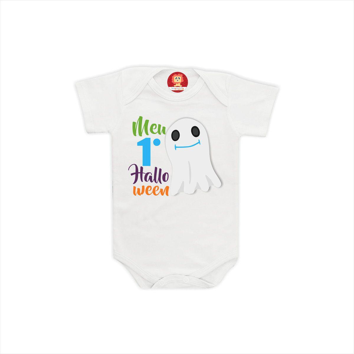 Body ou Camiseta Meu 1 Halloween Fantasminha