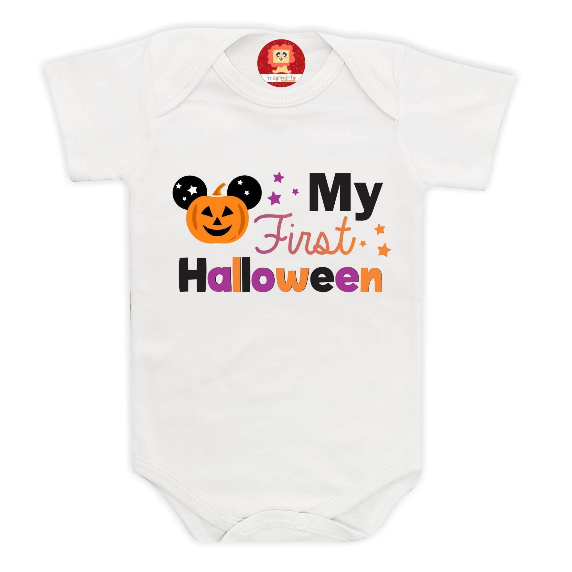 Body ou Camiseta Meu Primeiro Halloween