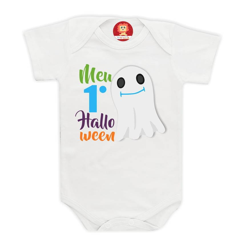 Body ou Camiseta Meu Primeiro Halloween Fantasminha