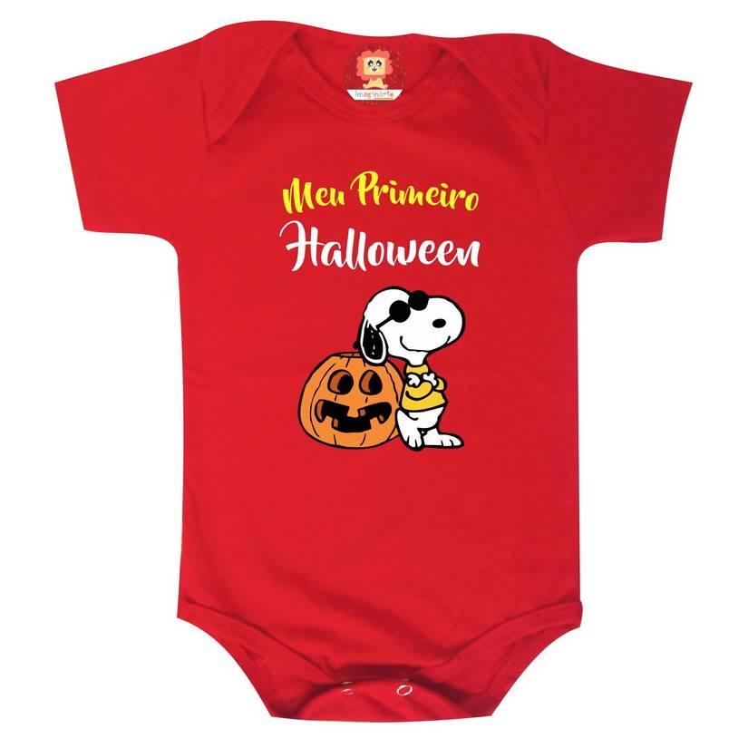 Body ou Camiseta Meu Primeiro Halloween Snoopy