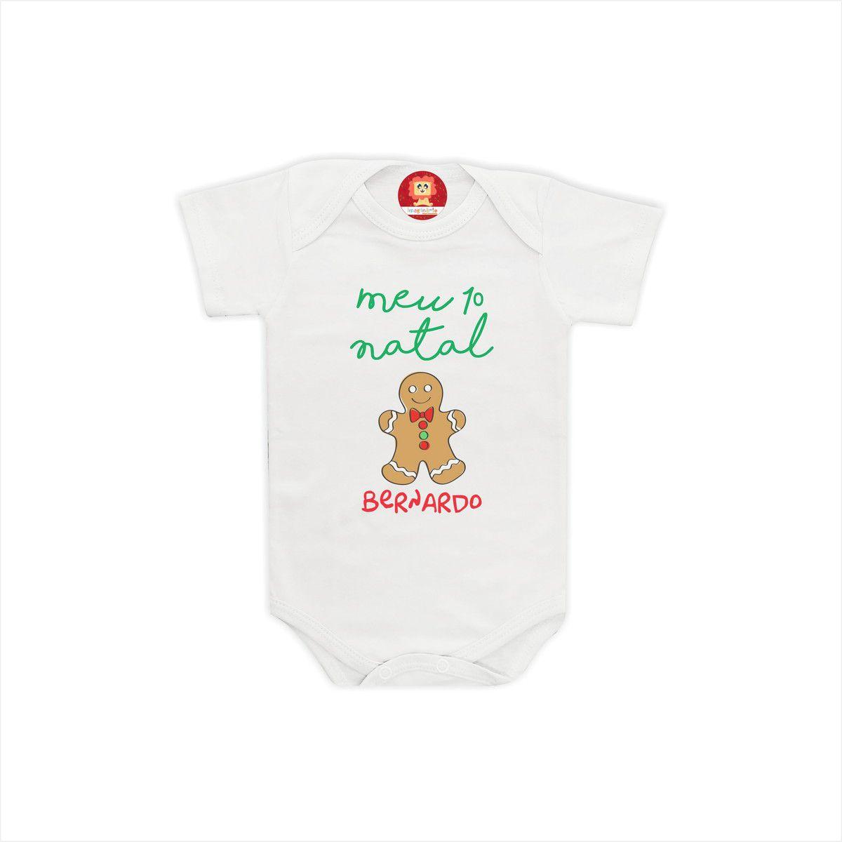 Body ou Camiseta Meu Primeiro Natal Biscoito