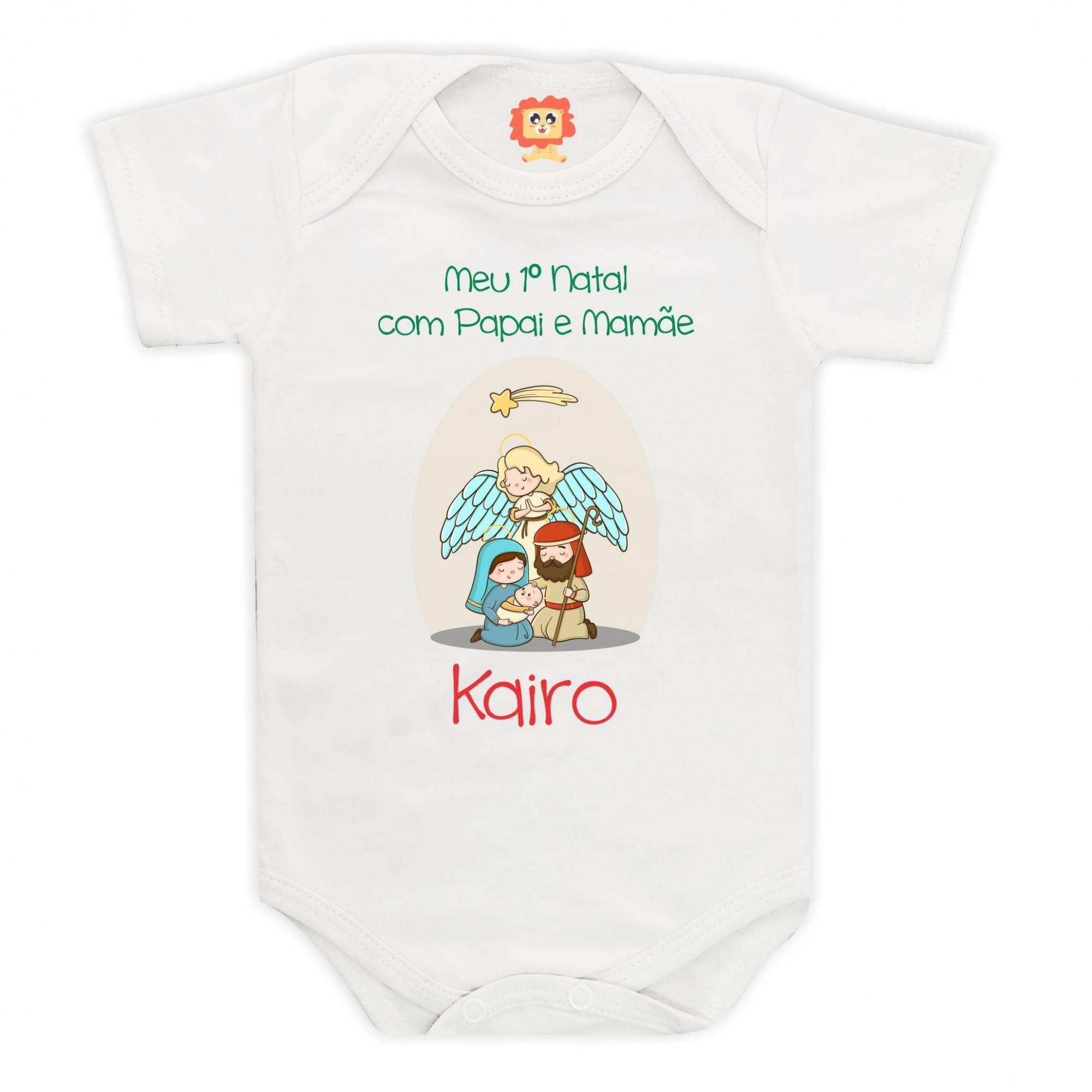 Body ou Camiseta Meu Primeiro Natal Presépio