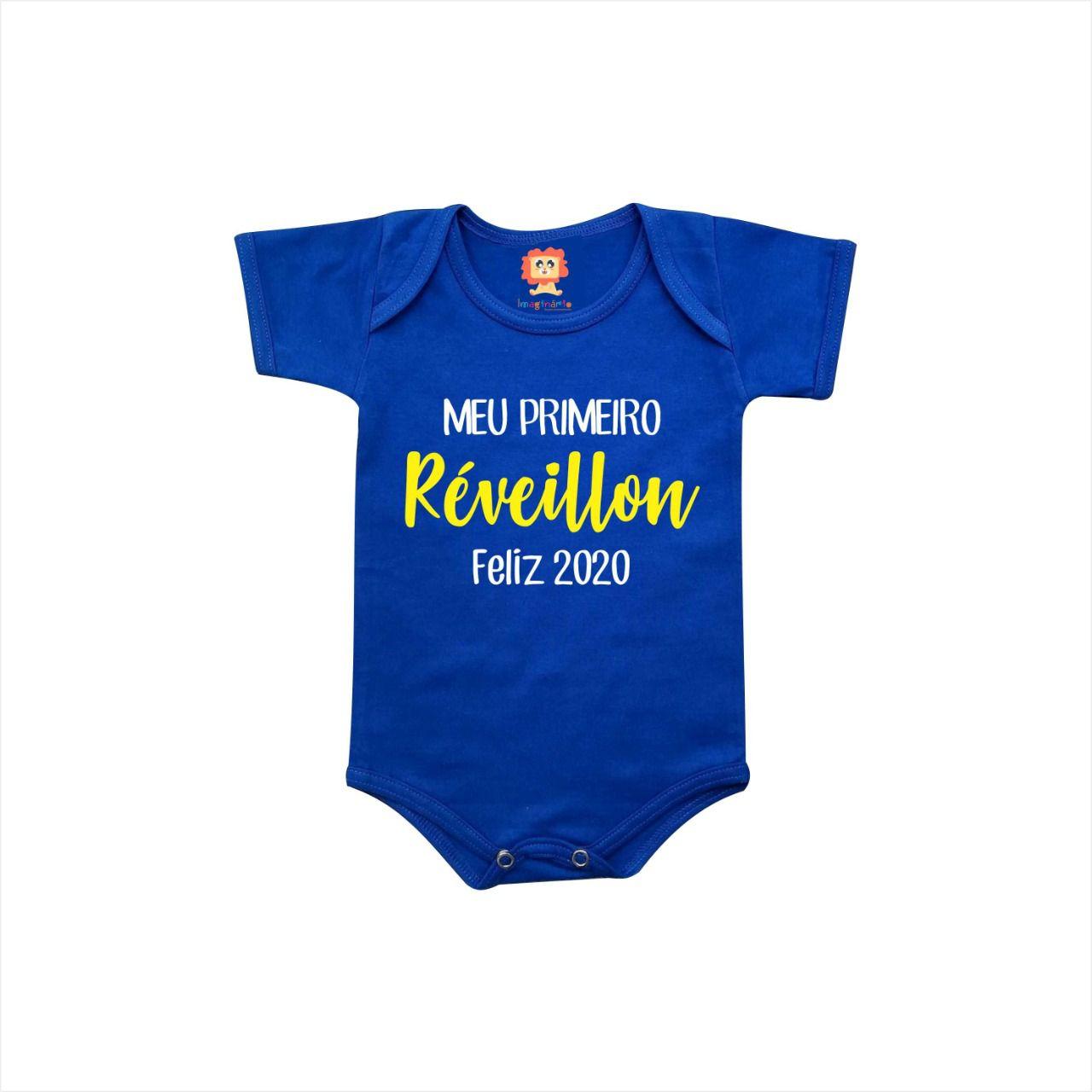 Body ou Camiseta Meu Primeiro Réveillon Feliz 2020