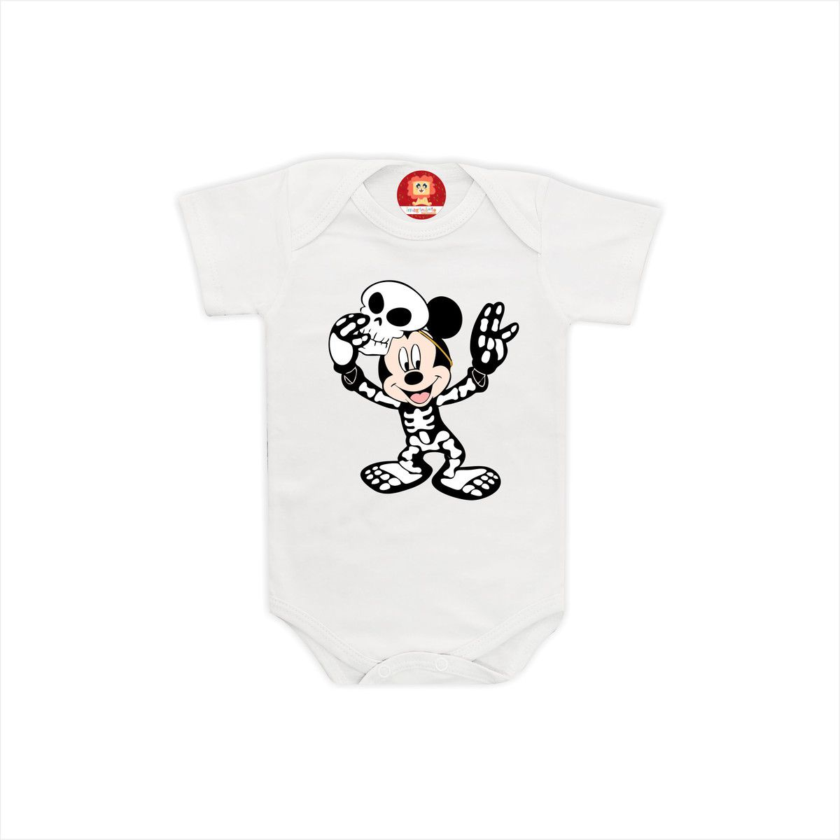 Body ou Camiseta Mickey Esqueleto
