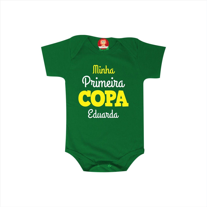 Body ou Camiseta Minha Primeira Copa do Mundo